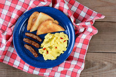 Country Style Scrambled Eggs Royalty Free Stock Image