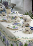 Country style spring table Royalty Free Stock Image