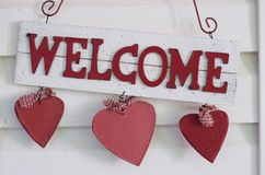 Country Style Welcome Sign Stock Images