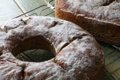 Country Style Wheat Rye Wholemeal Bread Stock Photo