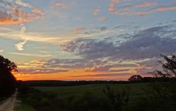 Country Sunset Stock Photography