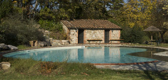 Country Swimming Pool, Luxury Place Royalty Free Stock Images