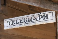 Country telegraph sign Royalty Free Stock Images