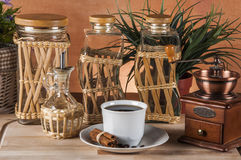Country theme with coffee Stock Images