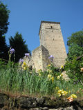 Country tower. Rural tower in Italy's farm holiday royalty free stock photo