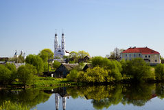 Country town. Photo of the country town which is in Belarus (Oshmjany, the Grodno area Royalty Free Stock Photography