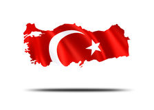Country of Turkey. Turkey with turkish flag Royalty Free Stock Images