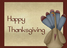 Country Turkey Happy Thanksgiving Card Stock Images