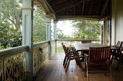 Country Veranda. The veranda of a country farm homestead