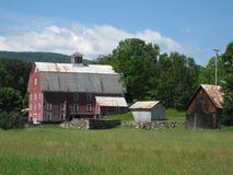 Country in Vermont. A serene country setting in Vermont with the mountains in the background Stock Photo