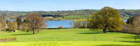Country view at Blagdon Lake Somerset England UK south of Bristol Royalty Free Stock Photography