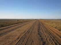 Country View Of Long And Straight Dirt Road Stock Image