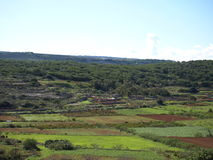 Country View of Malta. Country View of a beautiful village in Malta that is Mellieha Stock Photo