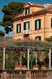 Country villa in Italy. An Italian style country villa in Sorrento, with garden and balcony Royalty Free Stock Photos