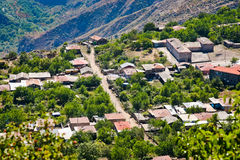 Country village Halidzor in Armenia Royalty Free Stock Image