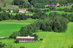 Country village in Norway Royalty Free Stock Photography