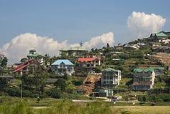 Country Villas. View of hillside country villas in Nuwara Eliya, Sri Lanka Royalty Free Stock Images