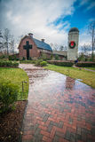 Country walk by the village. Billy graham library, north carolina royalty free stock photography