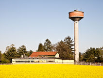 Country and water tower Stock Photography