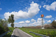 Country water tower Royalty Free Stock Photo