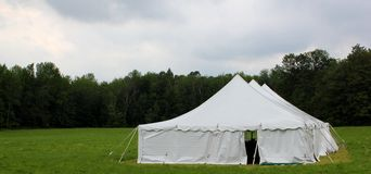 Country wedding or events tent Stock Photo