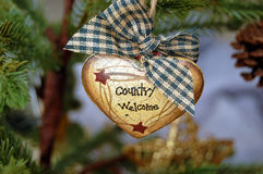 Country Welcome Ornament Stock Photos