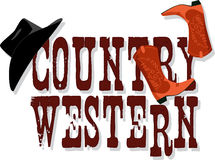 Country Western banner Royalty Free Stock Photography