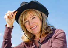 Country Western Beauty Royalty Free Stock Photography
