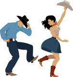 Country western dancers Stock Image