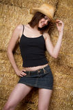 Country Western Girl Stock Photo