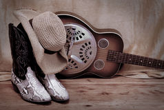 Country Western. Music rustic scene Royalty Free Stock Images