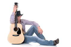 Country & Western singer Royalty Free Stock Photo