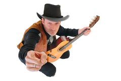 Country & Western singer Stock Photography