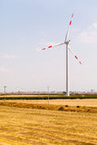 Country wind turbine Royalty Free Stock Photos