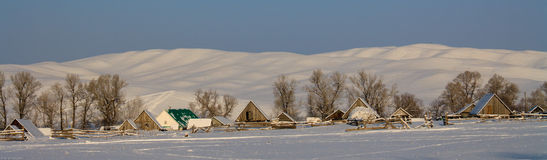 Country in winter Bashkiria royalty free stock images