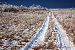 Country winter road Royalty Free Stock Photography