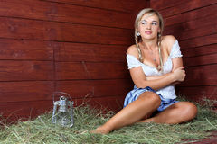 Country woman relaxing Stock Photography