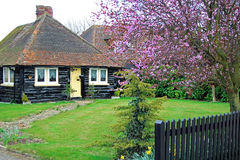 Country wooden cottage Stock Photo