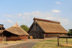 Country wooden house stock photo