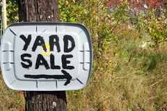 Country Yard Sale Sign. Homemade Yard Sale sign out in the country Stock Images