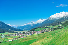 Country of Zuoz in Engadine valley near St Moritz Switzerland Royalty Free Stock Image