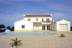 Countryhouse com o swimmingpool no Algarve em P Fotografia de Stock