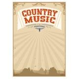 Countrymusik-Festivalhintergrund mit amerikanischer Landschaft Lizenzfreies Stockbild