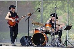 Countrymusikmusikband Texas Riders Arkivfoton