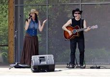 Countrymusikmusikband Texas Riders Arkivfoto