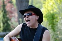Countrymusikmusikband Texas Riders Arkivbilder