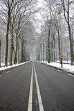 Countryroad in wintertime Royalty Free Stock Image