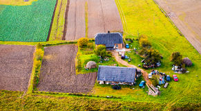 Countryside from above Royalty Free Stock Photo