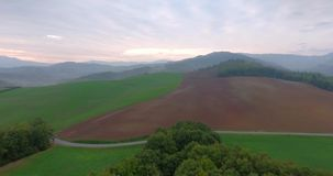 Countryside aerial view stock video footage