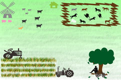 Countryside agricultural farm Royalty Free Stock Image